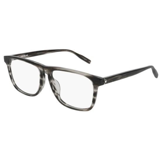 Montblanc MB0014OA - 003 Grigio | Occhiale Da Vista Uomo