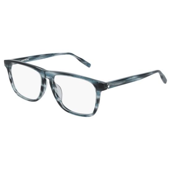 Montblanc MB0014OA - 004 Blu | Occhiale Da Vista Uomo