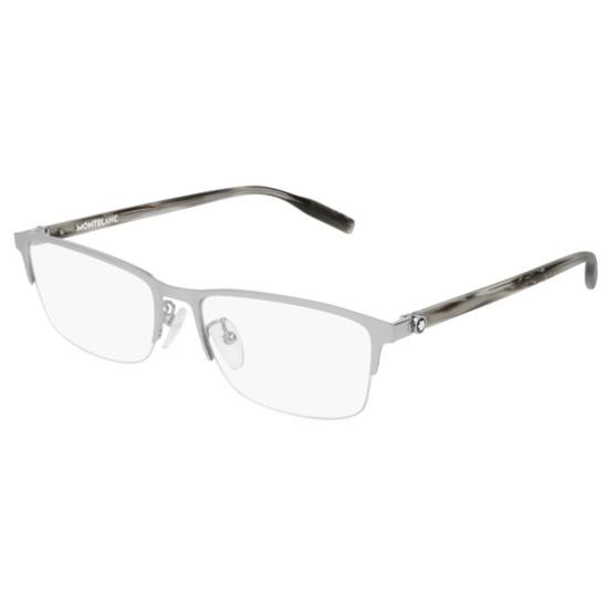 Montblanc MB0015O - 003 Argento | Occhiale Da Vista Uomo
