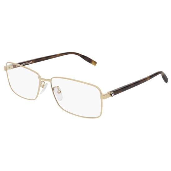 Montblanc MB0016O - 002 Oro | Occhiale Da Vista Uomo