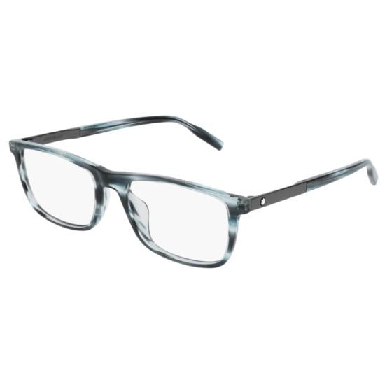 Montblanc MB0021O - 004 Blu | Occhiale Da Vista Uomo