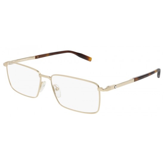 Montblanc MB0022O - 003 Oro   Occhiale Da Vista Uomo