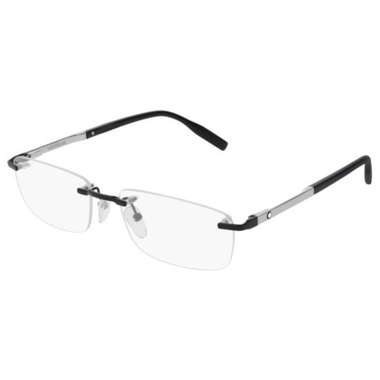 Montblanc MB0023O - 001 Nero | Occhiale Da Vista Uomo