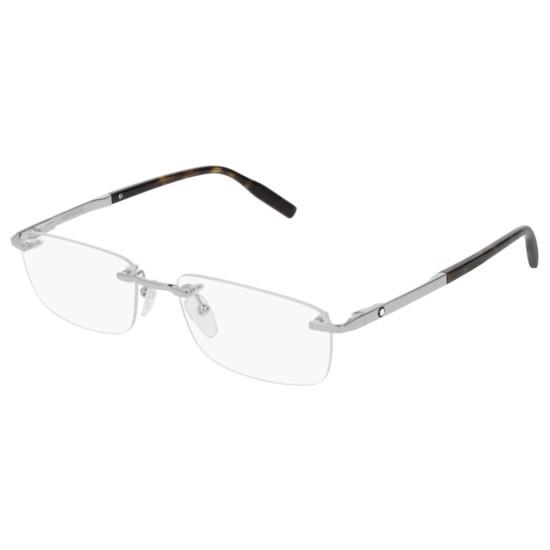 Montblanc MB0023O - 002 Argento | Occhiale Da Vista Uomo