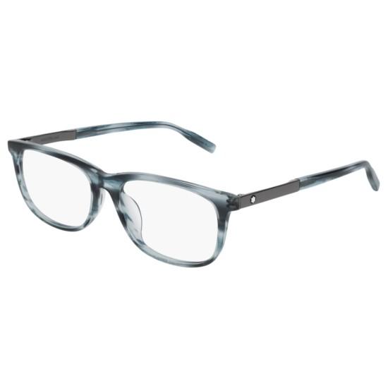 Montblanc MB0025OA - 004 Blu   Occhiale Da Vista Uomo