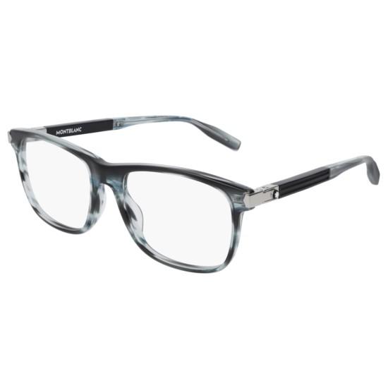 Montblanc MB0035O - 002 Blu | Occhiale Da Vista Uomo