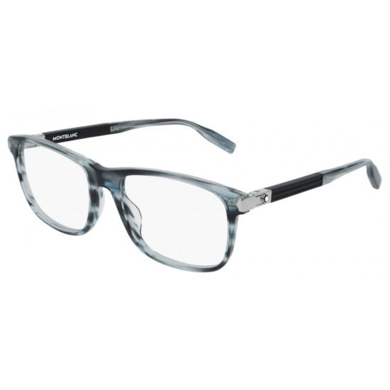 Montblanc MB0035O - 006 Blu | Occhiale Da Vista Uomo