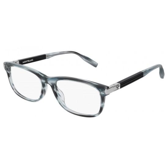 Montblanc MB0036O - 002 Blu | Occhiale Da Vista Uomo