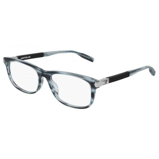 Montblanc MB0036O - 006 Blu | Occhiale Da Vista Uomo