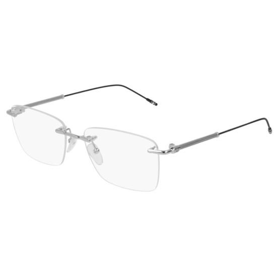 Montblanc MB0038O - 001 Argento | Occhiale Da Vista Uomo