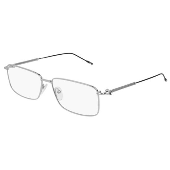 Montblanc MB0039O - 001 Argento   Occhiale Da Vista Uomo