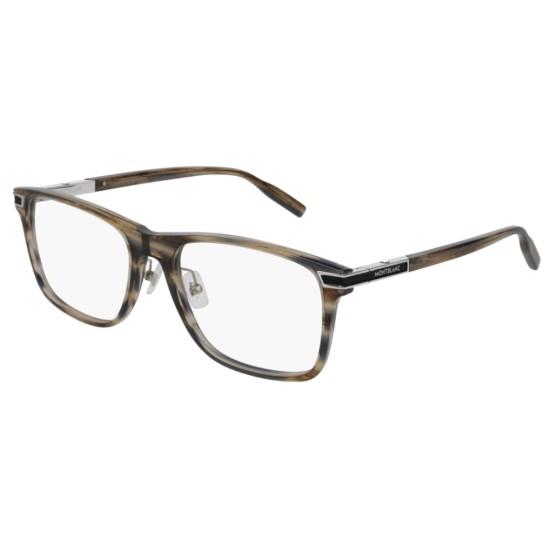 Montblanc MB0042O - 008 Grigio   Occhiale Da Vista Uomo