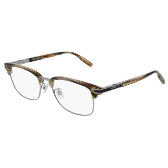 Montblanc MB0043O - 004 Grigio | Occhiale Da Vista Uomo