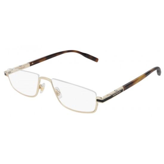 Montblanc MB0044O - 002 Oro | Occhiale Da Vista Uomo