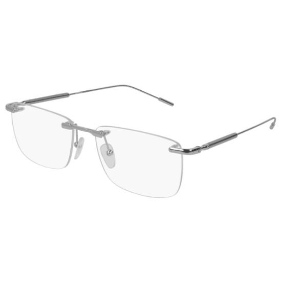 Montblanc MB0049O - 003 Argento | Occhiale Da Vista Uomo
