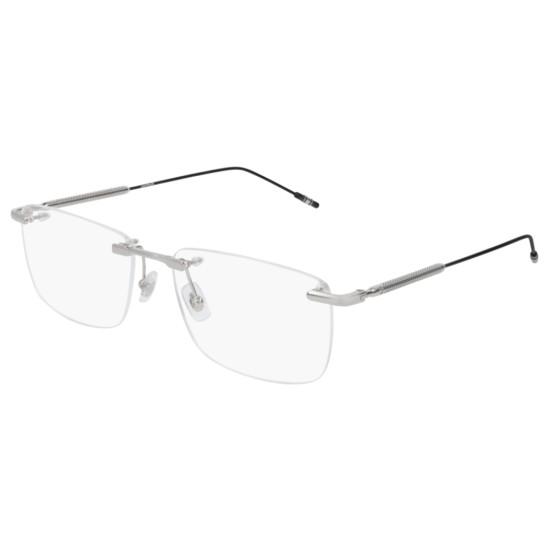 Montblanc MB0049O - 006 Argento | Occhiale Da Vista Uomo