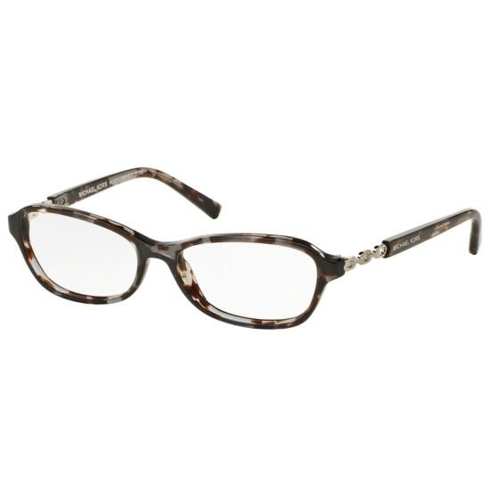 Michael Kors MK 8019 Sabina V 3107 Tartaruga Nera / Argento | Occhiale Da Vista Donna