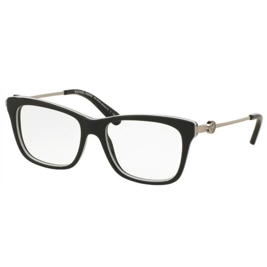 Michael Kors MK 8022 Abela Iv 3129 Nero Bianco | Occhiale Da Vista Donna