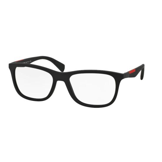 Prada Linea Rossa PS  04FV - DG01O1 Gomma Nera   Occhiale Da Vista Uomo