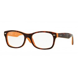 Ray-Ban Junior RY 1528 - 3762 Trasp Arancione Sul Blu In Alto