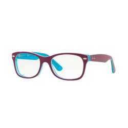 Ray-Ban Junior RY 1528 - 3763 Trasp Blu Su Fuxia Superiore