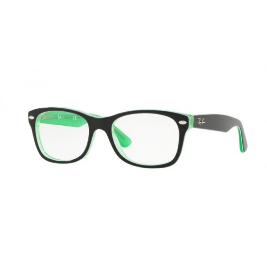 Ray-Ban Junior RY 1528 - 3764 Trasp Verde Sopra Nero