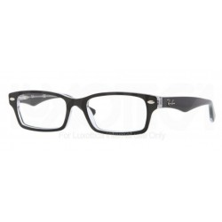 Ray-Ban Junior RY 1530 - 3529 Nero Superiore Su Trasparente