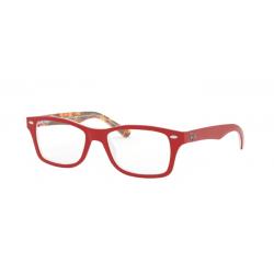 Ray-Ban Junior RY 1531 - 3804 Rosso Su Trama Rosso Marrone