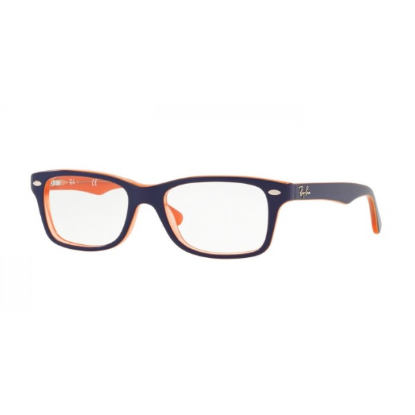 Ray-Ban Junior RY 1531 - 3762 Trasp Arancione Sul Blu In Alto