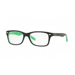 Ray-Ban Junior RY 1531 - 3764 Verde Trasparente In Alto Nero