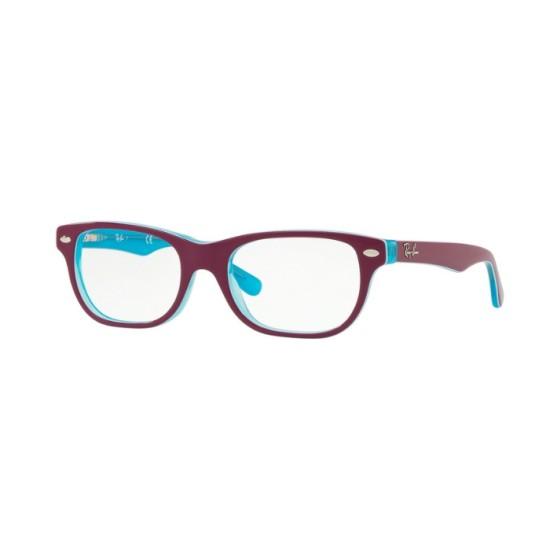 Ray-Ban Junior RY 1555 - 3763 Trasp Blu Su Fuxia Superiore | Occhiale Da Vista Bambino Unisex