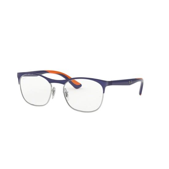Ray-Ban Junior RY 1054 - 4073 Argento Sul Blu Opaco Superiore   Occhiale Da Vista Bambino Unisex