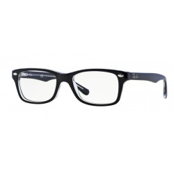 Ray-Ban Junior RY 1531 - 3529 Nero Superiore Su Trasparente