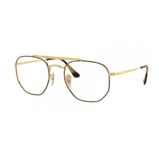 Ray-Ban RX 3648V - 2945 Cima Havana Su Oro   Occhiale Da Vista Unisex
