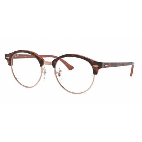 Ray-Ban RX 4246V Clubround 5884 Top Havana Su Marrone