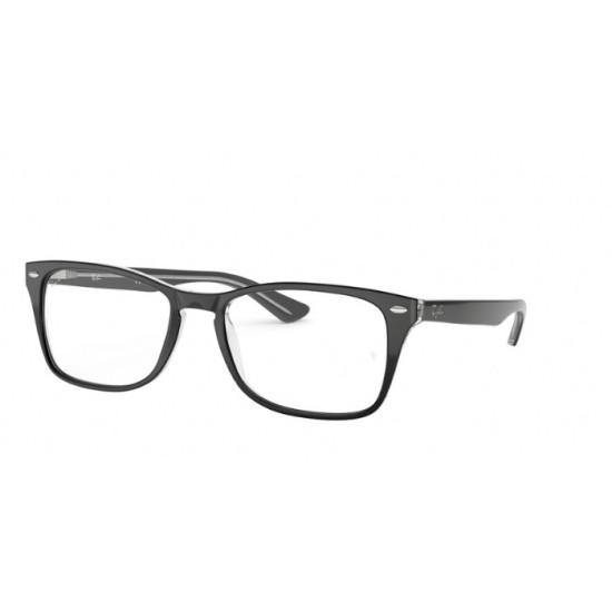 Ray-Ban RX 5228M - 2034 Trasparente In Alto Nero   Occhiale Da Vista Unisex