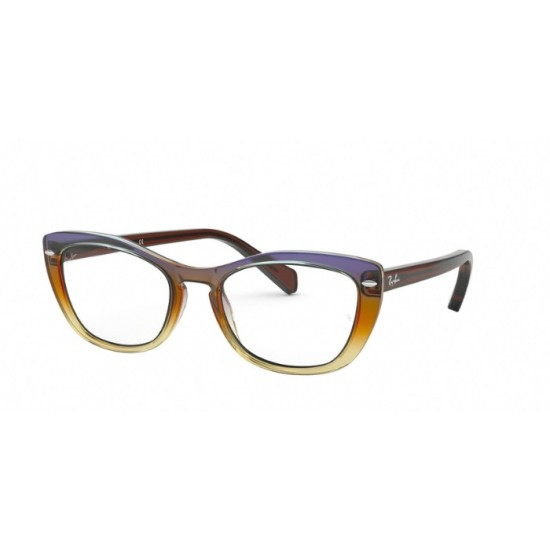 Ray-Ban RX 5366 - 5836 Trigonoide Marrone-viola-yello