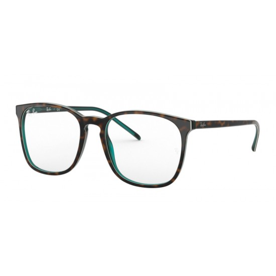 Ray-Ban RX 5387 - 5974 Top Brown Oh Oh Havana Green Tras