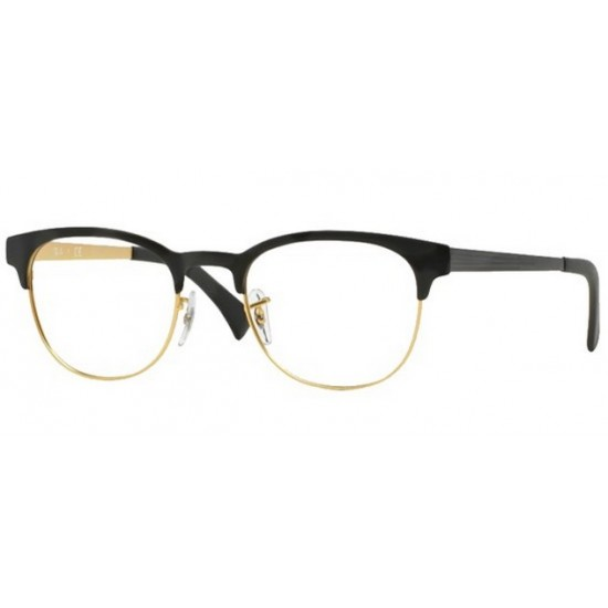 Ray-Ban RX 6317 - 2833 Top Nero Su Oro Opaco