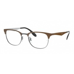 Ray-Ban RX 6346 - 2862 Top Spazzolato Marrone Scuro Su Canna Di Fucile