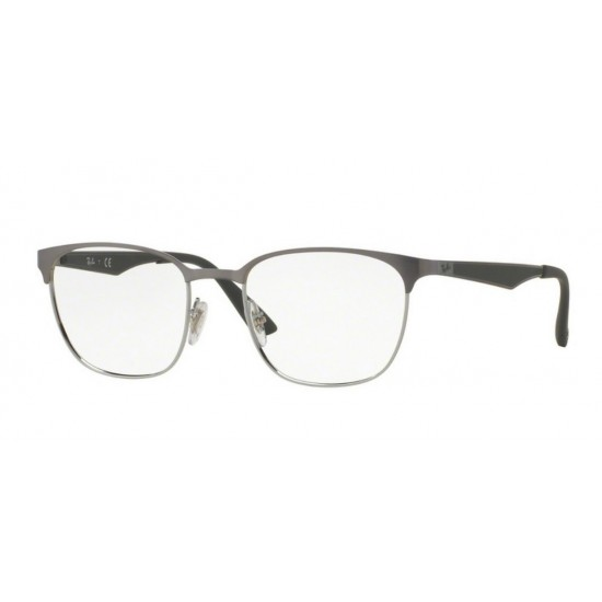 Ray-Ban RX 6356 - 2874 Cannone Brusched In Argento | Occhiale Da Vista Unisex