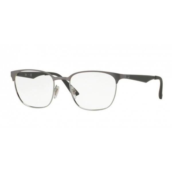Ray-Ban RX 6356 - 2874 Cannone Brusched In Argento