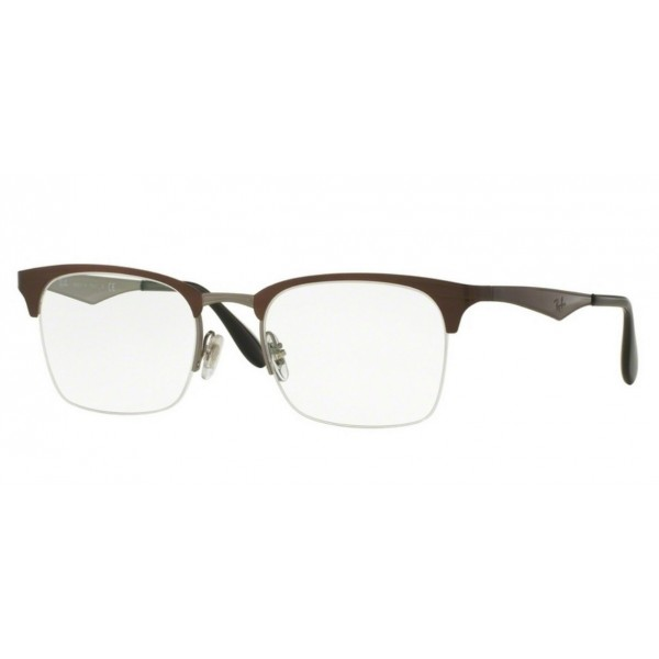 Ray-Ban RX 6360 - 2862 Top Marrone Lucido Su Canna Di Fucile