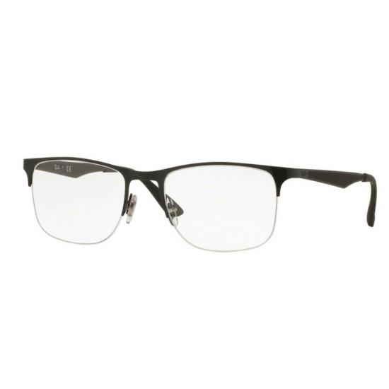 Ray-Ban RX 6362 - 2509 Nero Lucido   Occhiale Da Vista Uomo