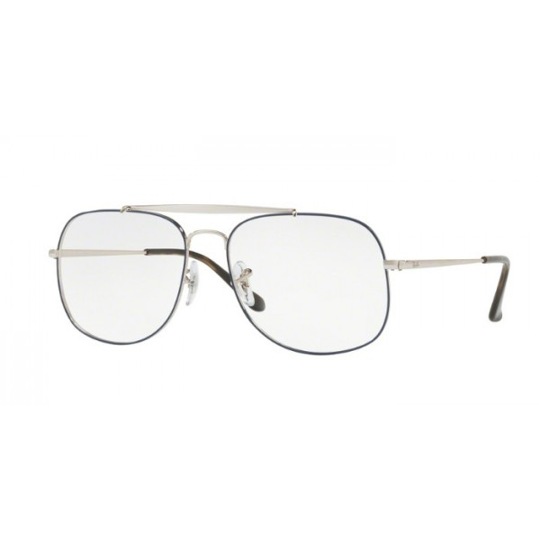 Ray-Ban RX 6389 The General 2970 Argento In Alto Blu