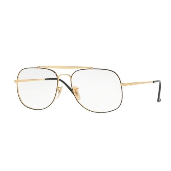 Ray-Ban RX 6389 The General 2946 Top D'oro Su Nero | Occhiale Da Vista Uomo