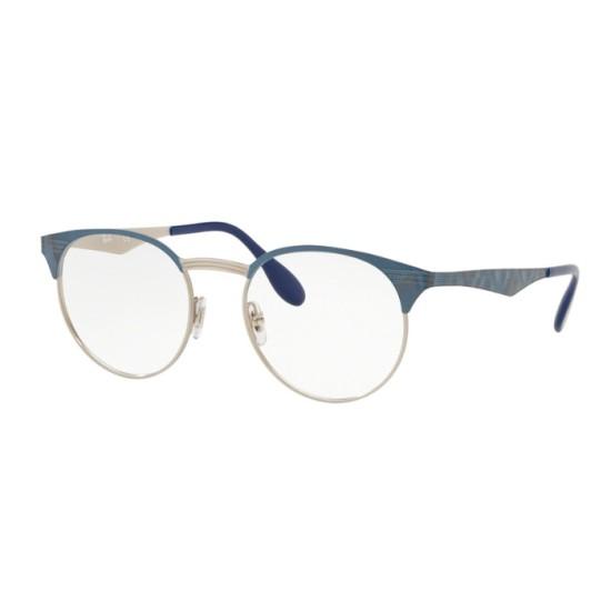 Ray-Ban RX 6406 - 3025 Argento Sulla Mossa Blu In Alto | Occhiale Da Vista Unisex