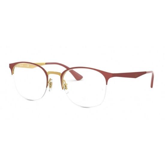 Ray-Ban RX 6422 - 3046 Top Rosso Opaco Su Oro Lucido | Occhiale Da Vista Donna