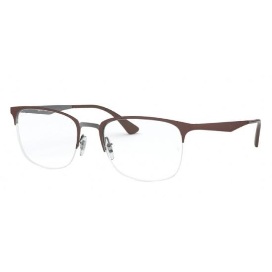 Ray-Ban RX 6433 - 3040 Marrone Opaco Superiore Su Canna Di Fucile | Occhiale Da Vista Donna