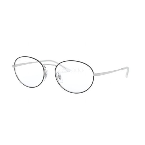 Ray-Ban RX 6439 - 2983 Top Nero Su Argento | Occhiale Da Vista Unisex
